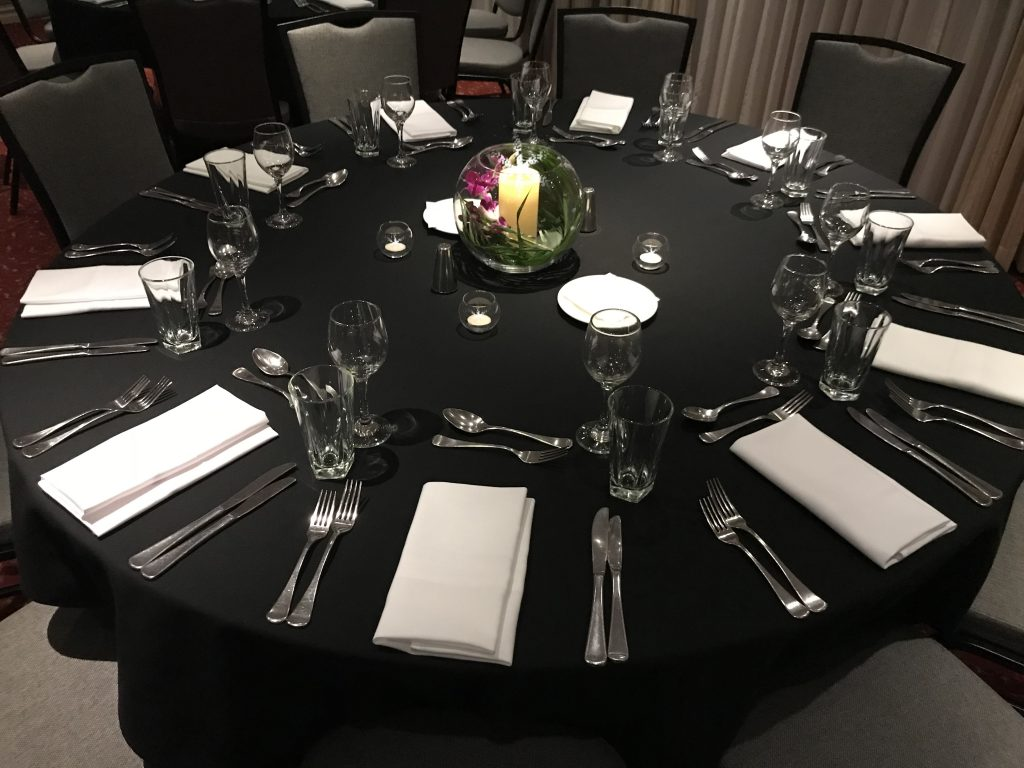 Banquet Style Table Setup