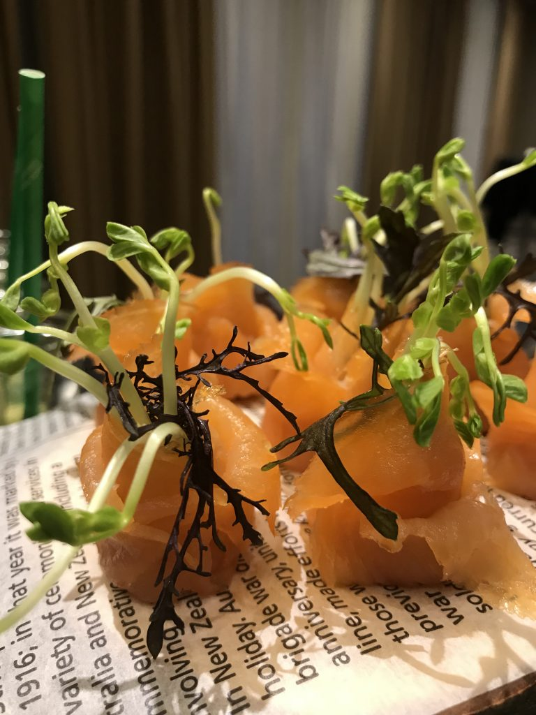 Smoked Salmon and Bean Sprout Rolls