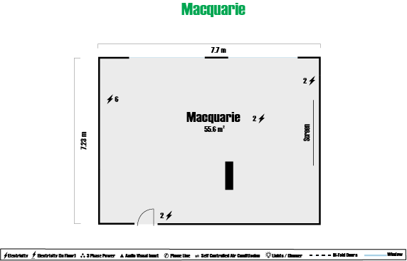 Macquarie Room Floor Plan