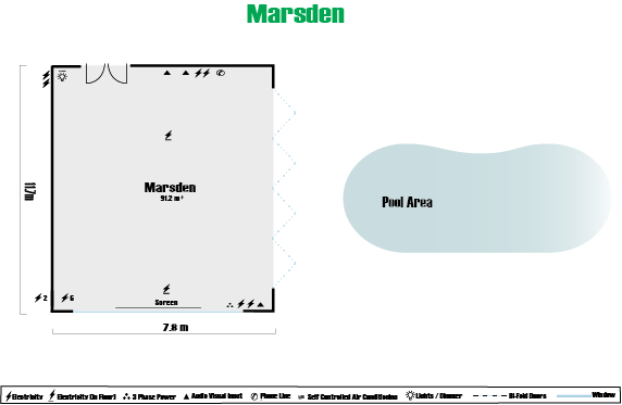 Marsden Room Floor Plan